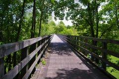 Puente de caballete en Virginia Creeper Trail foto de archivo libre de regalías