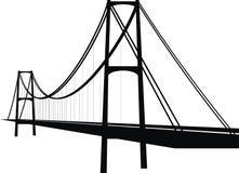Puente de cable de la suspensión Imágenes de archivo libres de regalías
