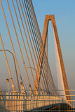Puente de cable del Jr. de Arturo Ravenel Charleston S.C. Fotografía de archivo libre de regalías