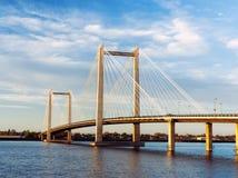 Puente de cable escénico en Washington. Fotografía de archivo