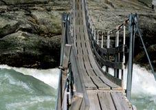 Puente de cable, Noruega Imágenes de archivo libres de regalías