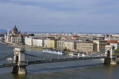 Puente de cadena Fotografía de archivo libre de regalías