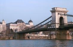 Puente de cadena, Budapest. Imagen de archivo
