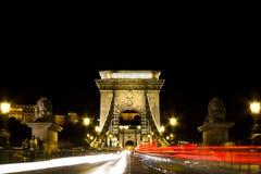 Puente de cadena Budapest Imágenes de archivo libres de regalías