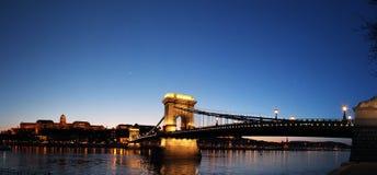 Puente de cadena Budapest Foto de archivo libre de regalías
