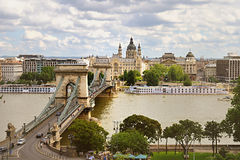 Puente de cadena, Budapest Imagenes de archivo