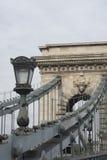 Puente de cadena, Budapest foto de archivo