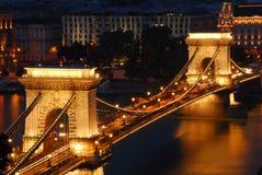 Puente de cadena, Budapest Imagen de archivo libre de regalías