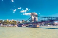 Puente de cadena de Budapest Fotos de archivo libres de regalías