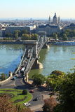 Puente de cadena de Budapest foto de archivo