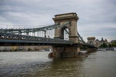 Puente de cadena de Budapest Foto de archivo libre de regalías