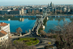 Puente de cadena de Budapest Imagen de archivo libre de regalías