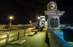 Puente de cadena de cadena de Budapest Imagen de archivo libre de regalías