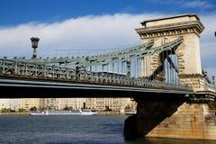 Puente de cadena de Széchenyi, Budapest Imagen de archivo
