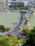 Puente de cadena de Széchenyi en Dan Imagen de archivo libre de regalías