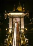 Puente de cadena en Budapest Foto de archivo libre de regalías