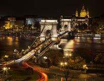 Puente de cadena en Budapest Foto de archivo