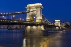 Puente de cadena en Budapest Fotos de archivo libres de regalías