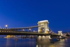 Puente de cadena en Budapest Imágenes de archivo libres de regalías