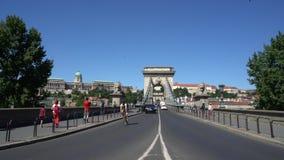 Puente de cadenas en Budapest almacen de video