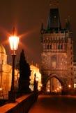 Puente de Charles de la noche Foto de archivo