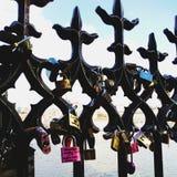Puente de Charles de las llaves Imagen de archivo libre de regalías