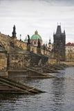 Puente de Charles en Praga Foto de archivo libre de regalías