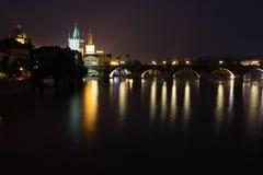 Puente de Charles en Praga. Imagen de archivo