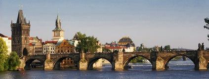 Puente de Charles en Praga Imagen de archivo libre de regalías