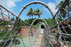 Puente de colgante Fotografía de archivo