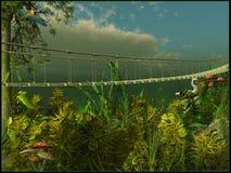 Puente de colgante Fotos de archivo