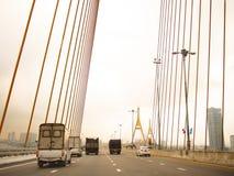 Puente de colgante Fotografía de archivo libre de regalías
