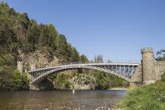 Puente de Craigellachie sobre el río Spey en Escocia Fotos de archivo libres de regalías