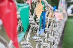 Puente de cuerda Fotografía de archivo