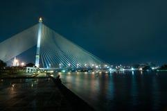 Puente de cuerda Imagen de archivo libre de regalías