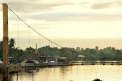 Puente de cuerda Imágenes de archivo libres de regalías