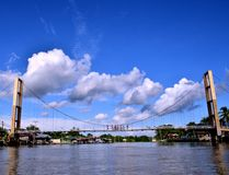 Puente de cuerda Foto de archivo libre de regalías
