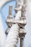 Puente de cuerda del metal del alambre imágenes de archivo libres de regalías