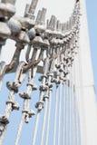 Puente de cuerda del metal del alambre fotografía de archivo