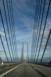 Puente de cuerda Oresund Imagen de archivo libre de regalías