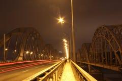 Puente de Darnytskiy, Kiev Imagen de archivo