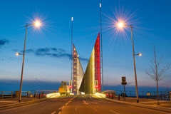 Puente de dos velas fotos de archivo