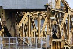 Puente de drenaje industrial del ferrocarril Foto de archivo