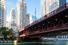 Puente de DuSable en Chicago foto de archivo
