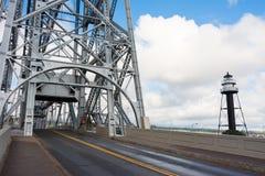 Puente de elevación aéreo Imagen de archivo libre de regalías