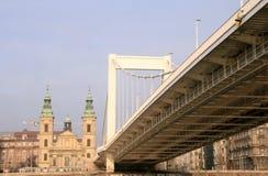 Puente de Elisabeth. Budapest Foto de archivo