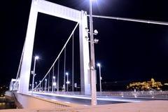 Puente de Elisabeth, Budapest foto de archivo libre de regalías