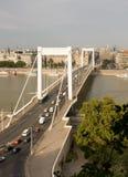 Puente de Elisabeth en Budapest Fotos de archivo