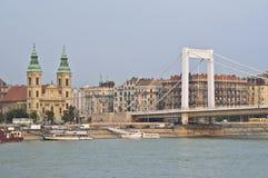 Puente de Elizabeth Imágenes de archivo libres de regalías
