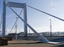 Puente de Elizabeth a través del río Danubio en Budapest Foto de archivo libre de regalías
